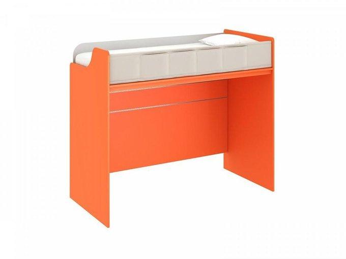 Кровать-чердак Pinokkio оранжевого цвета 100х210