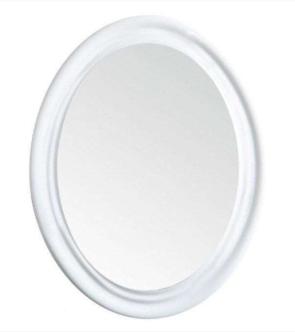 Настенное зеркало Lante в раме белого цвета