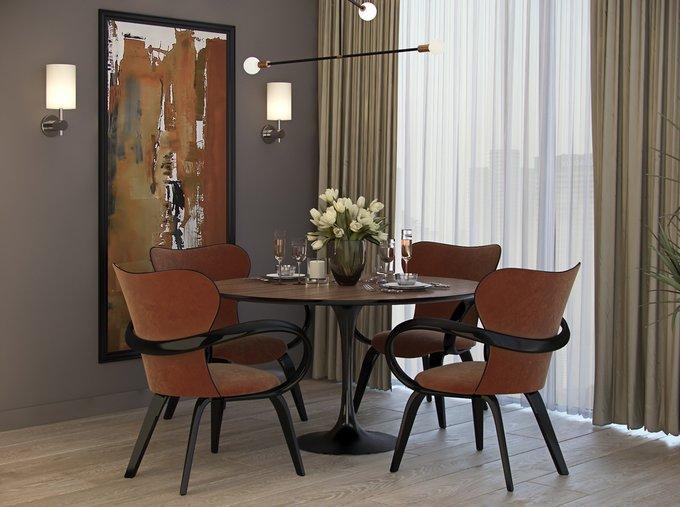 Обеденный стол Apriori T со столешницей цвета бук