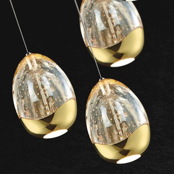 Подвесной светильник TERRENE Illuminati с плафонами из прозрачного выдувного стекла