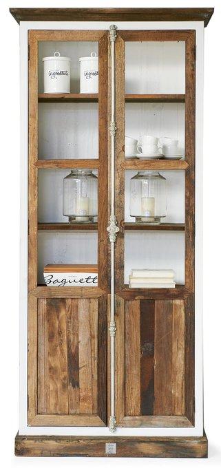 Шкаф с дверками Дерево с историей коричневого цвета