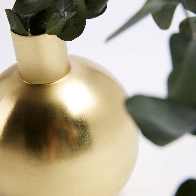 Ваза металлическая Фервик золотого цвета