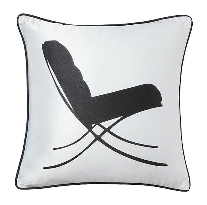 Подушка с принтом Japanese Lounge  White