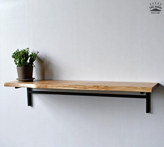 Полка Wood из металла и дерева