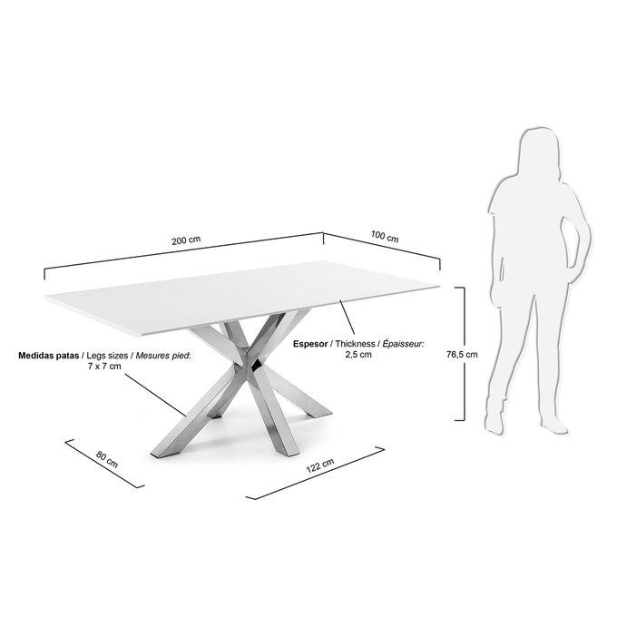 Обеденный стол Julia Grup Arya белой столешницей