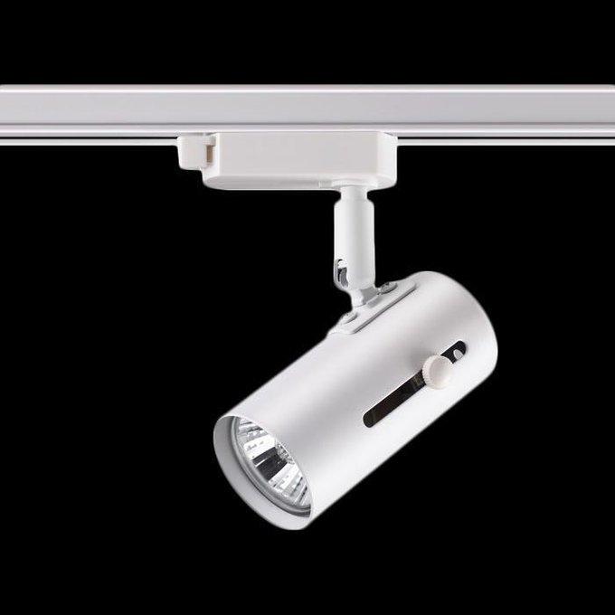 Трековый светильник Pipe белого цвета