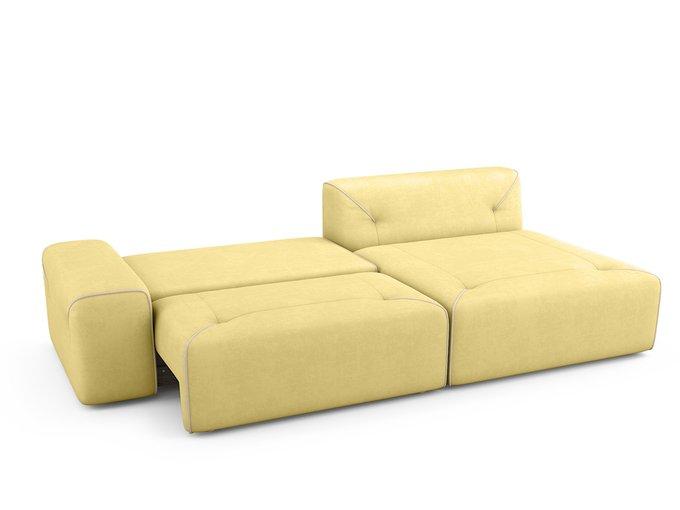Угловой Диван-кровать Portu правый желтого цвета