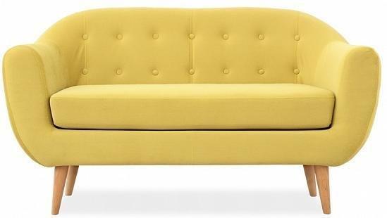 Диван прямой Роттердам желтого цвета