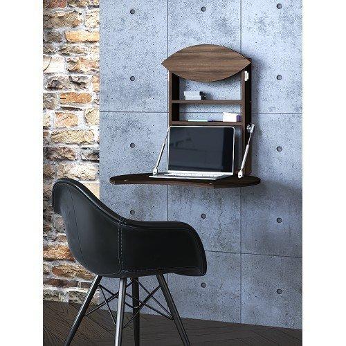 Настенный откидной стол для ноутбука  из массива ясеня