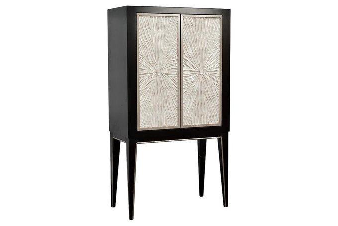 Барный шкаф бежево-черного цвета