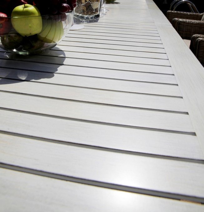 """Раскладной большой обеденный стол """"ТОСКАНА"""" из алюминия"""