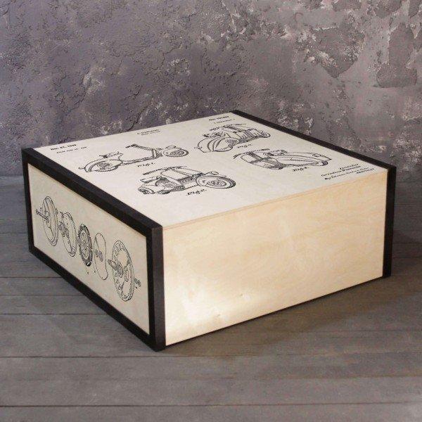Журнальный стол Vespa из массива сосны и стали