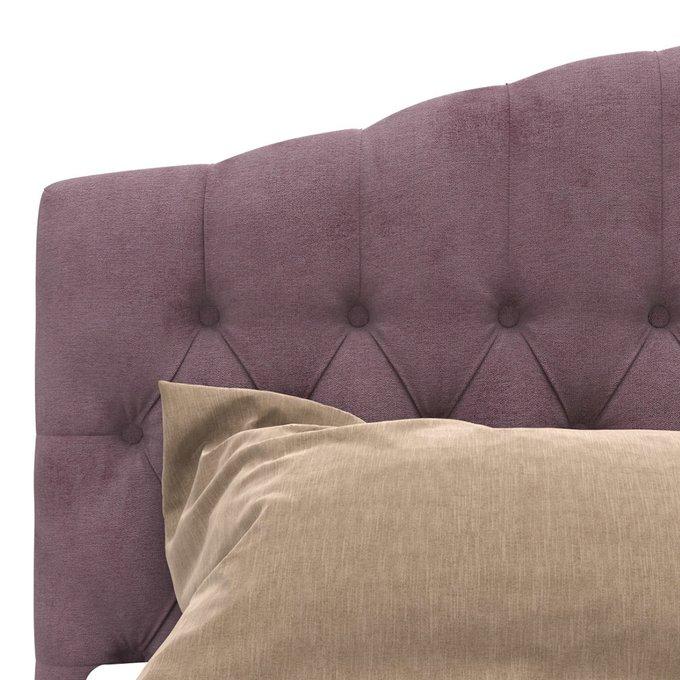 Кровать Hannah с подъемным механизмом сиреневого цвета 200х200
