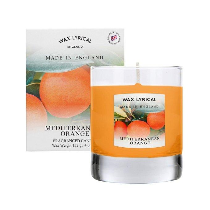 Свеча в стекле Солнечный апельсин