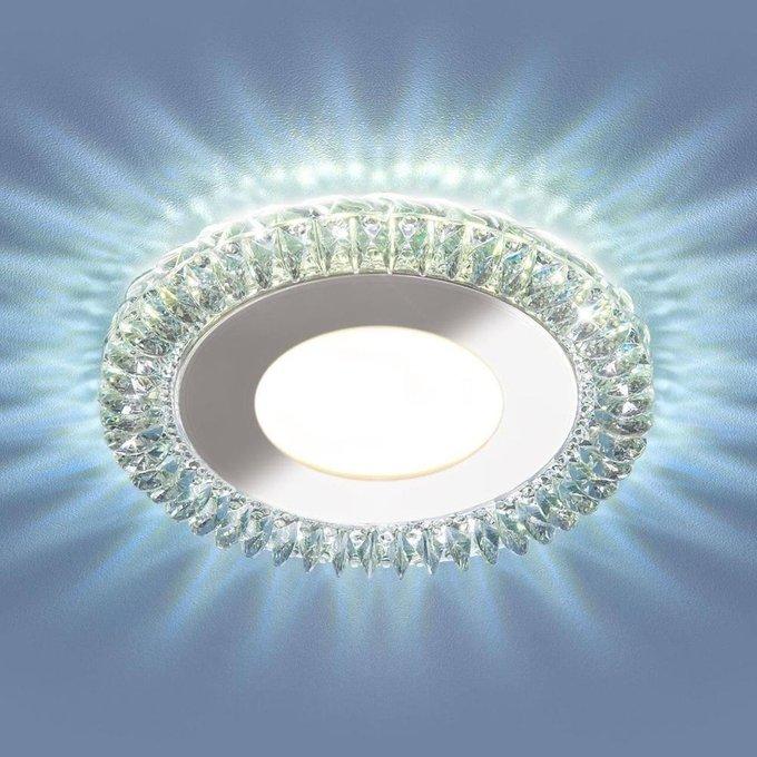 Встраиваемый светодиодный светильник прозрачный с металлическими элементами