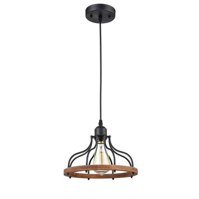 Подвесной светильник Franco из металла и дерева