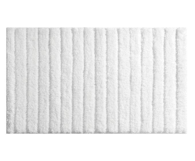 Коврик для ванной белого цвета 53х86