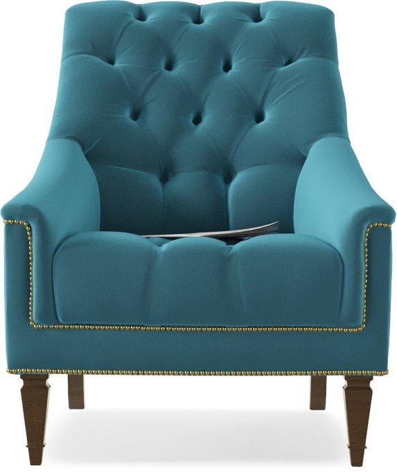 Кресло Элеганс Schnadig Azur голубого цвета