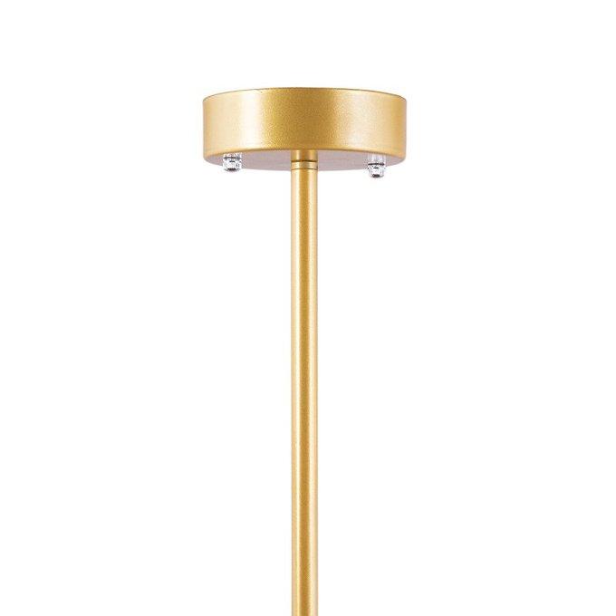 Подвесная люстра Molekula золотого цвета