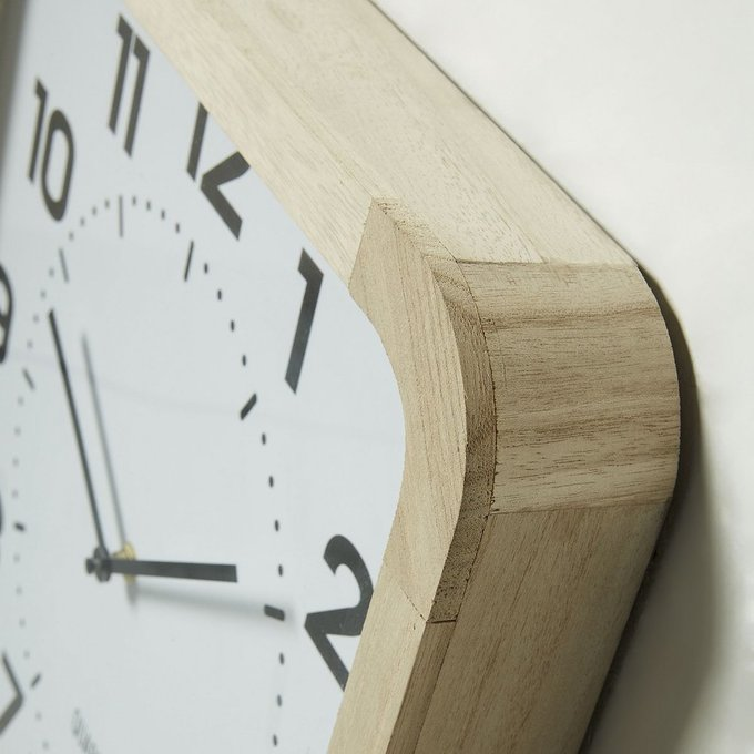 Настенные часы Azzato из натурального дерева
