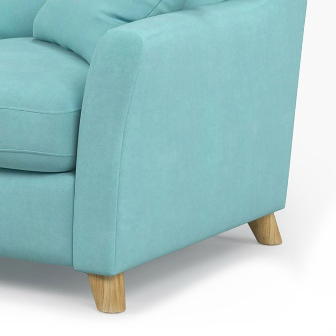 Диван-кровать Raf MT двухместный голубого цвета