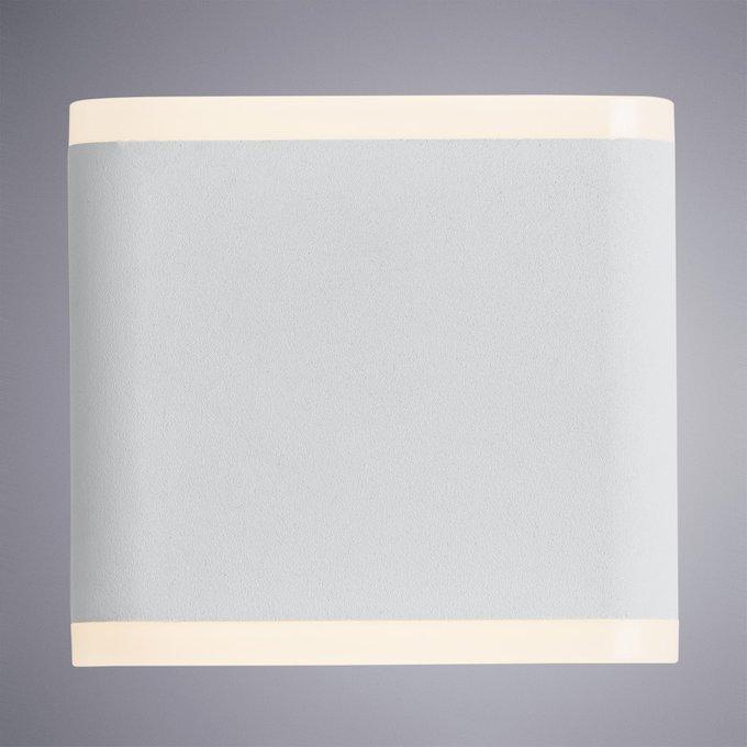Уличный настенный светодиодный светильник белого цвета