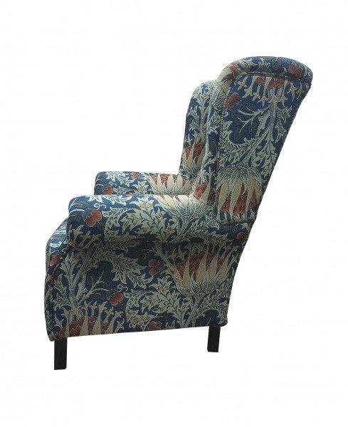 Кресло Артишок сине-голубого цвета