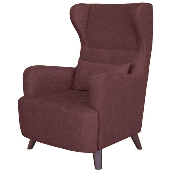Кресло Меланж в обивке бордового цвета