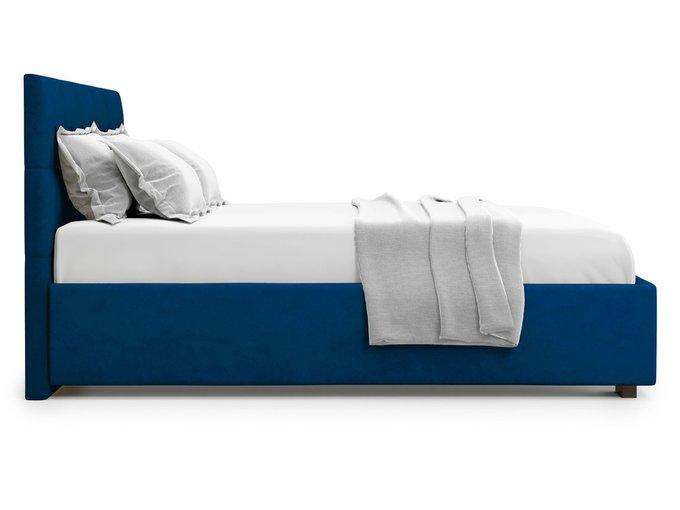 Кровать Garda 160х200 синего цвета с подъемным механизмом