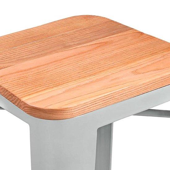 Барный стул Tolix Wood из дерева и стали