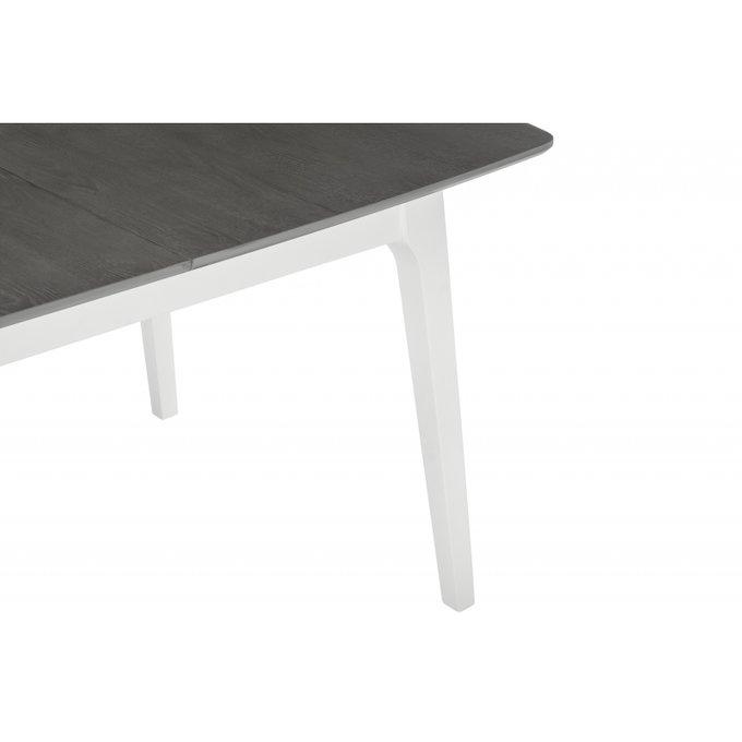Обеденный раскладной стол Enzo с темно-серой столешницей