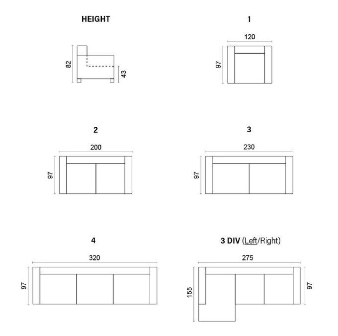 Угловой диван Nordic светло-серого цвета