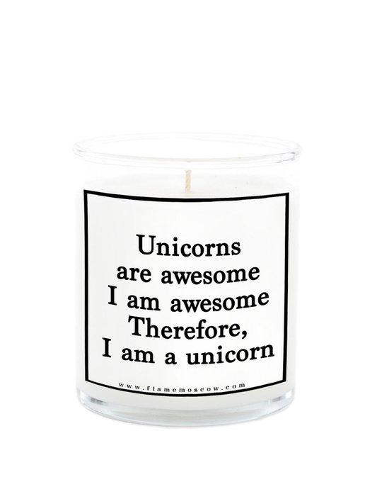 Ароматическая свеча Unicorn queen из 100% кокосового воска