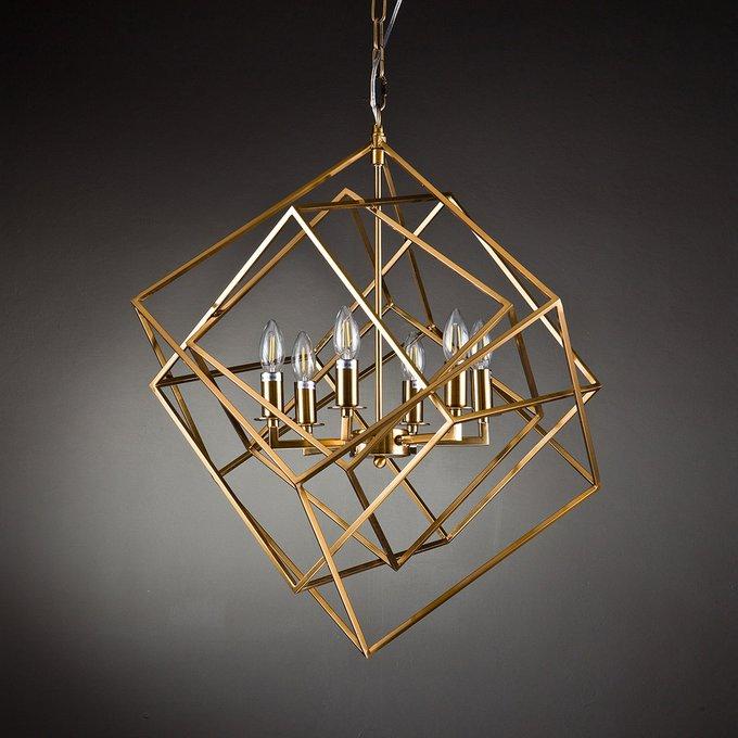 Подвесной светильник Matrix 6 brass