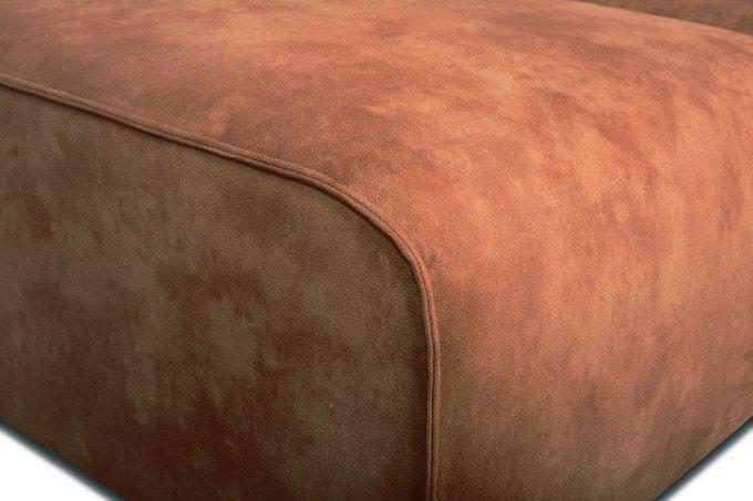Диван угловой Industrial Loft коричневого цвета