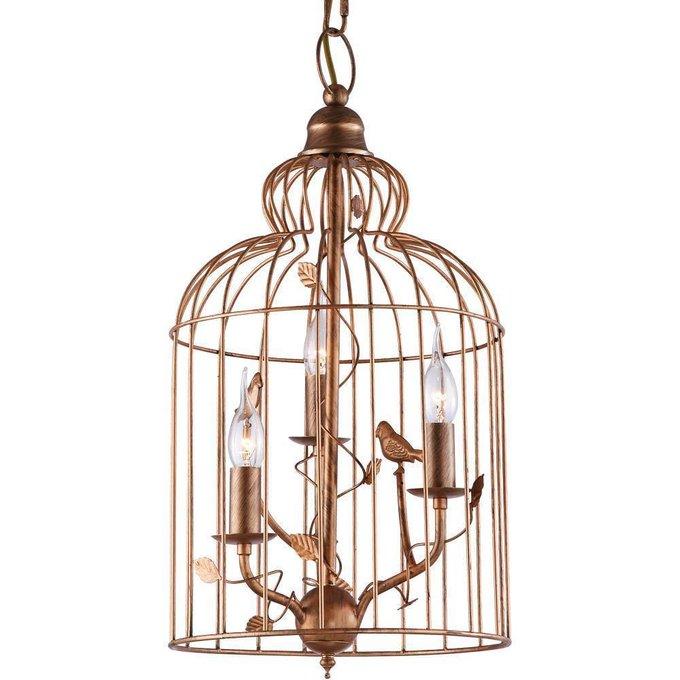 """Подвесная люстра ARTE LAMP """"Gabbia"""" с декоративным плафоном в виде клетки"""