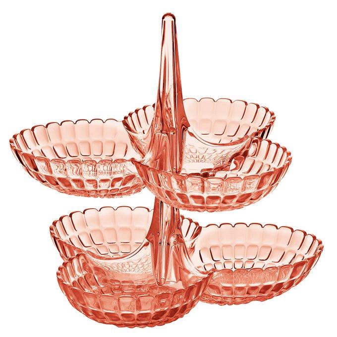 Набор из 2 менажниц Tiffany коралловый