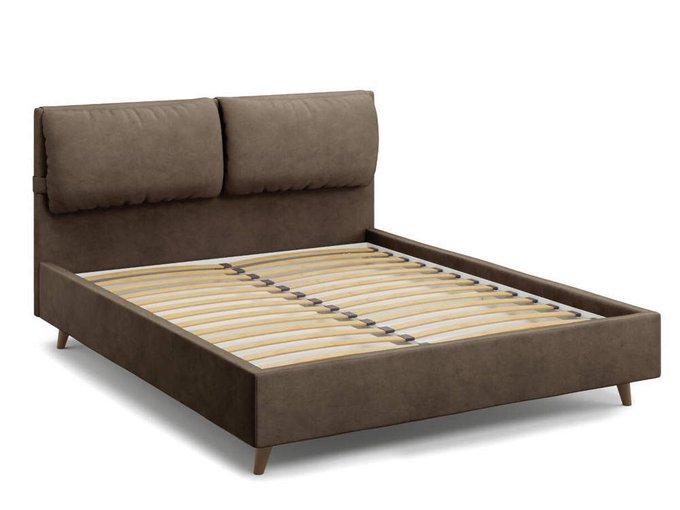 Кровать Trazimeno 140х200 коричневого цвета