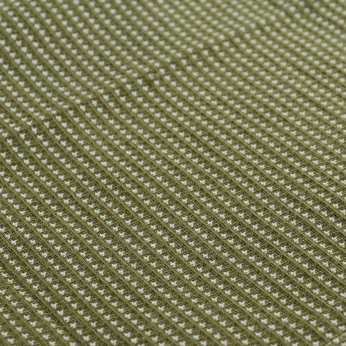 Полотенце вафельное кухонное Essential оливкового цвета 50х70
