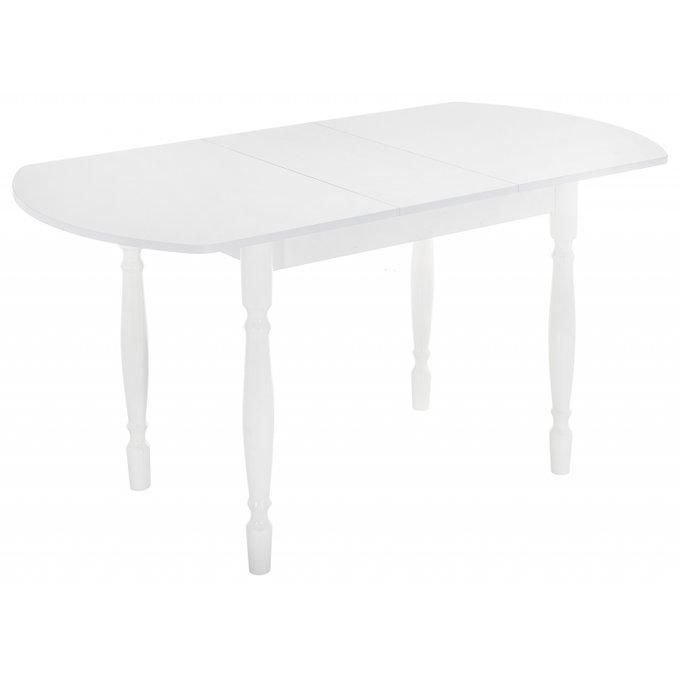 Обеденный раскладной стол Риттен белого цвета