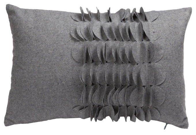 Подушка с объемным узором Giselle Gray