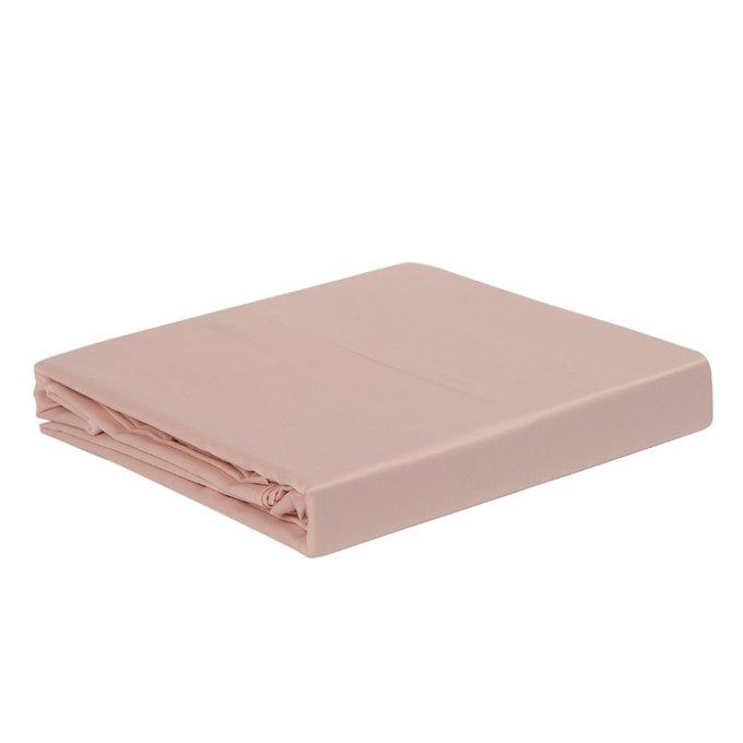 Простыня Essential из сатина цвета пыльной розы 240х270