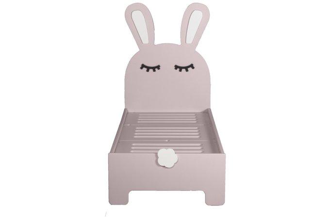 Детская кроватка Sleepy Bunny цвета пудра