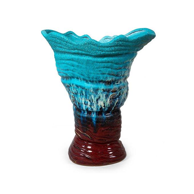 Ваза Latatio бордово-голубого цвета
