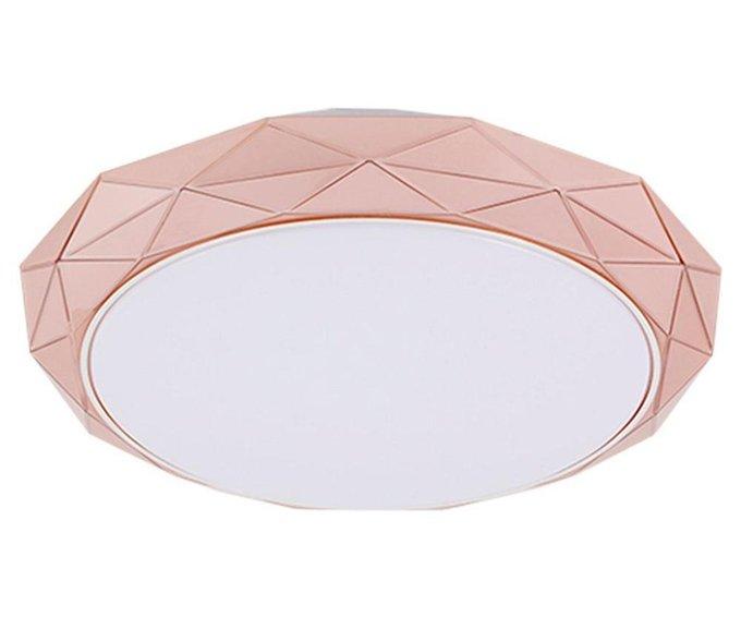 Настенно-потолочный светодиодный светильник Кристалл бело-коричневого цвета