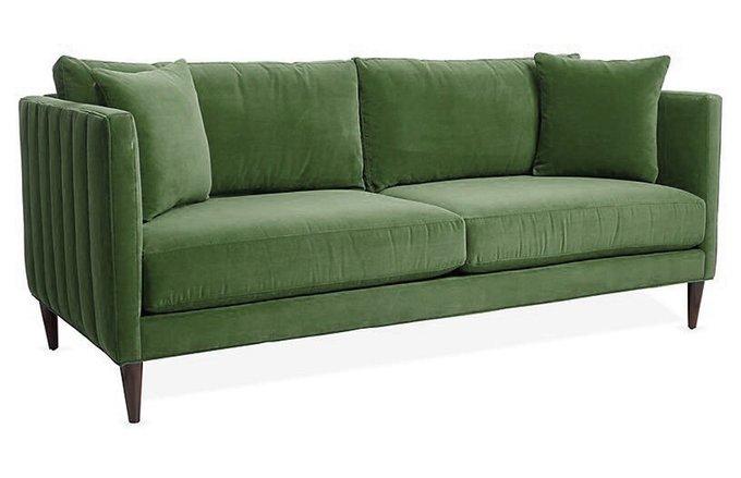 Диван Evelyn зеленого цвета