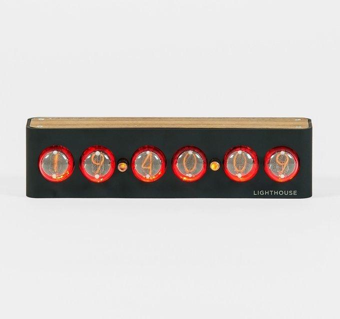 Часы на газоразрядных индикаторах Lighthouse 2.0 Black