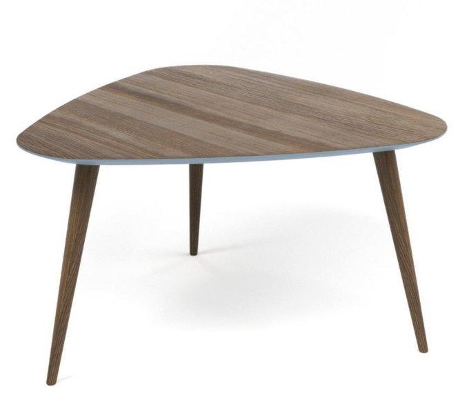 Обеденный стол Shell орех с окантовкой