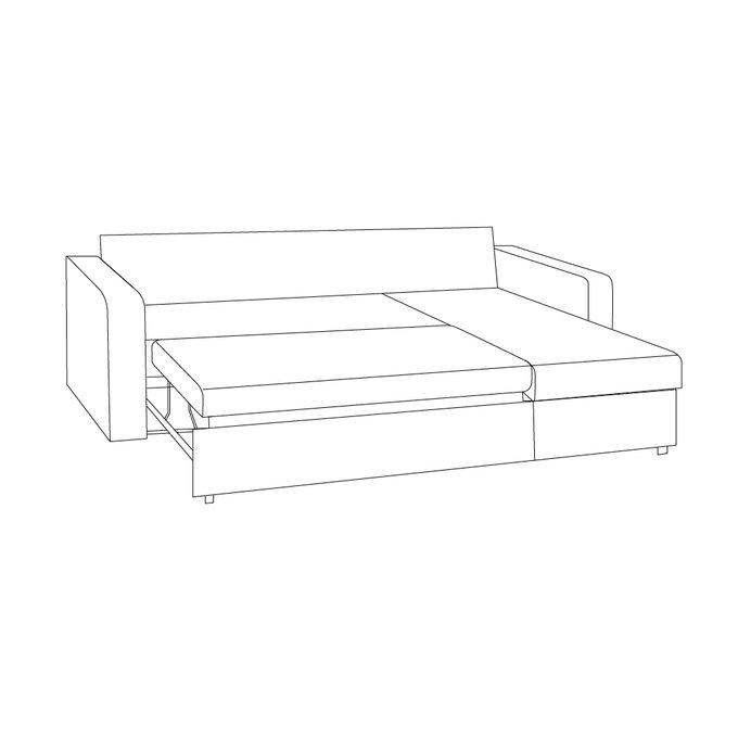 Угловой диван-кровать Гордон серого цвета