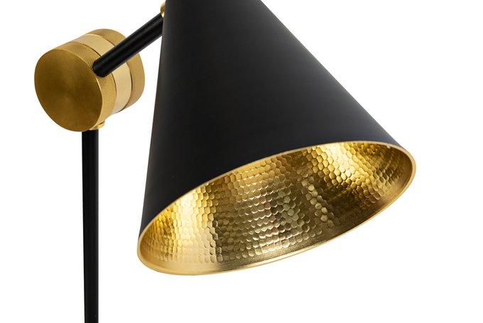 Лампа настольная черного цвета